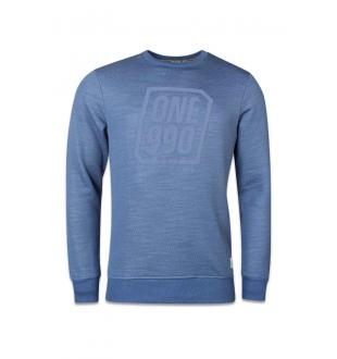 Blauwe sweater JCOATLANTA SWEAT CRE