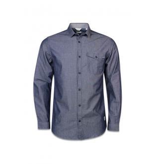 Zwart hemd JCOCHAMBRAY SHIRT LS
