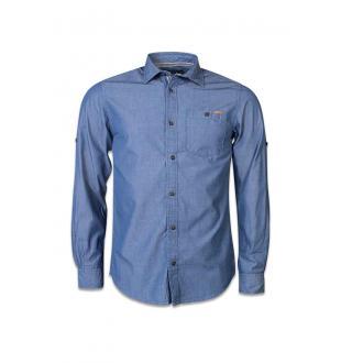Blauw hemd JORDUKE SHIRT LS