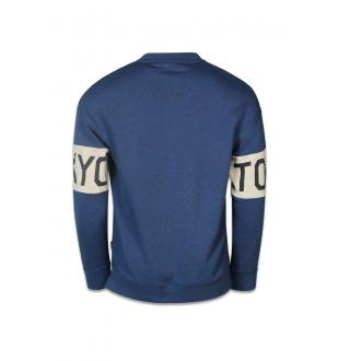 Blauwe sweater JORKASPER SWEAT MIX