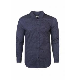 Blauw hemd JPRYEAR SHIRT LS PLA