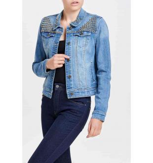 Blauwe jeansjas ONLCHRIS STUDDED DN