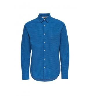 Blauw hemd ONSCONRAAD LS SHIRT